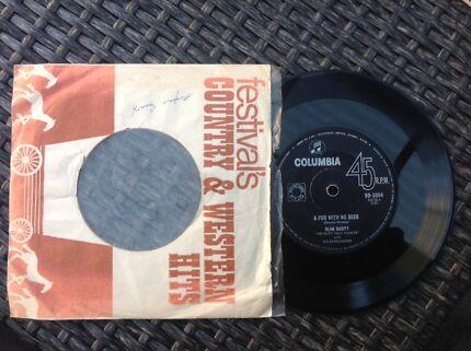 Classic Australian country vinyl records 45's singles/EPs