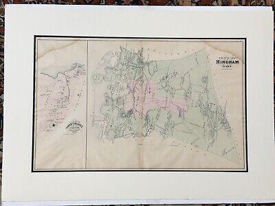 1879 MA Map Stoughton Stow Sudbury Sutton Swampscott Swansea Taunton POPULATION