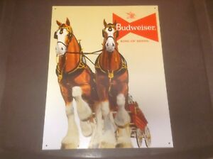 Reproductions plaques murales publicitaires anciennes Budweiser