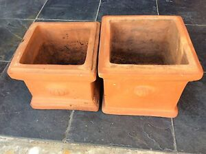 Terracotta pots square x2 Albany Creek Brisbane North East Preview