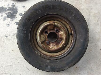 Tyres and rims 12 inch datsun Ourimbah Wyong Area Preview