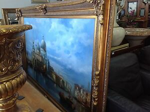 Stunning oil painting in elaborate ornate gold frame Ashmore Gold Coast City Preview