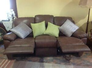 Brown Leather Sofa Northam Northam Area Preview