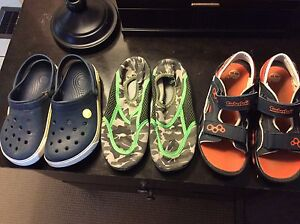 Boys sandals and water shoes size 13