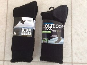 Men's Black outdoor socks