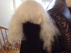 Mrs Clause White wig with bangs $5