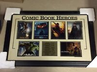 Comic book heroes framed pictures