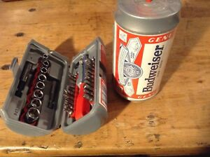 ONLY ONE LEFT!! Brand new BUDWEISER COMPACT TOOLS IN A CAN