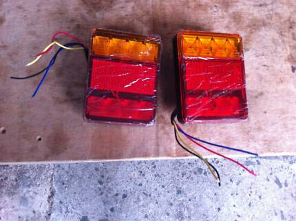 new trailer lights 1 pair LED waterproof suits caravan/boat/box/c