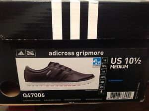 ADIDAS GRIPMORE GOLF SHOES USED 2 PAIRS SIZE 10.5 SEE PICS