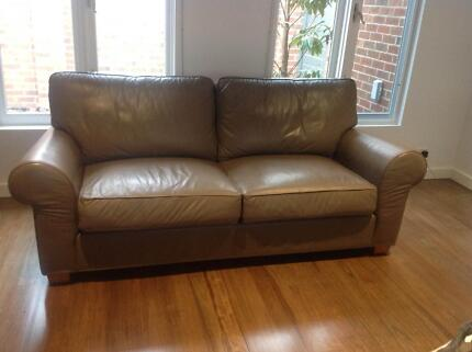 MORAN LEATHER 3 SEATER Black Rock Bayside Area Preview
