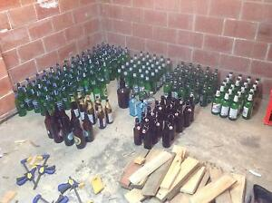 Mix of empty beer bottles for brewing. Coopers, Bavaria, etc Gymea Sutherland Area Preview