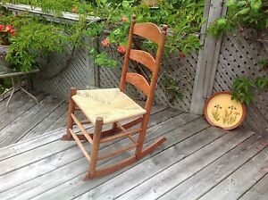 NEW PRICE! Antique John Young Pine Rocking Chair