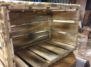 Reclaimed stackable wood crates