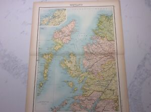 Antique Map of Scotland (1898 section 1)