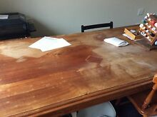 Table. Large teak table (2010 x 105 approx). Water damaged. Woy Woy Gosford Area Preview