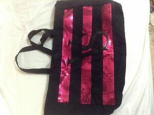 Victoria's Secret black and pink bag, purse