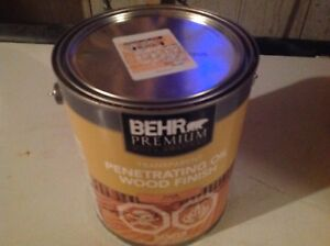 Behr oil base stain price. $35.00