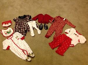 Girls Christmas clothing 6-12 months size