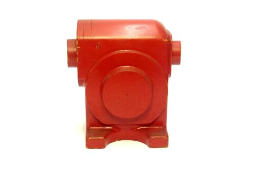 SMALL RED PAINTED WOOD FOUNDRY CASTING PATTERN MOLD INDUSTRIAL SCULPTURE ART
