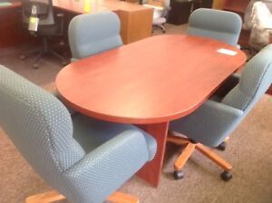 6' boardroom table,4 chairs
