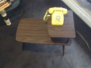 Vintage phone and table