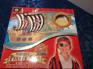 WOODEN PIRATE SHIP MAKING KIT WITH  MATERIALS