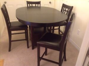 High counter table and 4 chairs