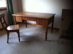 Lovely recycled timber desk with matching chair Marrickville Marrickville Area Preview