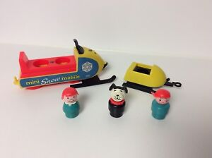 Fisher Price vintage Little People Snowmobile