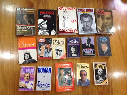 AUTO-BIOGRAHPY OF VARIOUS MOVIE STARS - GOLDEN AGE OF HOLLYWOOD!