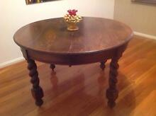Round wooden dining table with two inserts Cygnet Huon Valley Preview