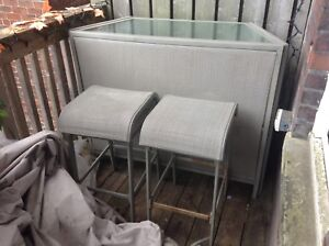 (New Price!)Patio/Deck Bar (w/2 stools n cover)  fr 175 to 140