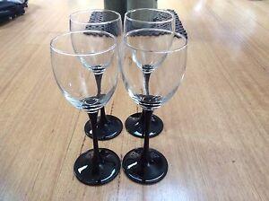 Wine Glass ( black stem) classic 90's Wakeley Fairfield Area Preview