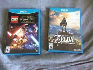Deux jeux Wii U très bonne condition