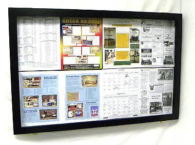 Hinged Door Bulletin Board (Bulletin Board Wooden with Acrylic hinged)