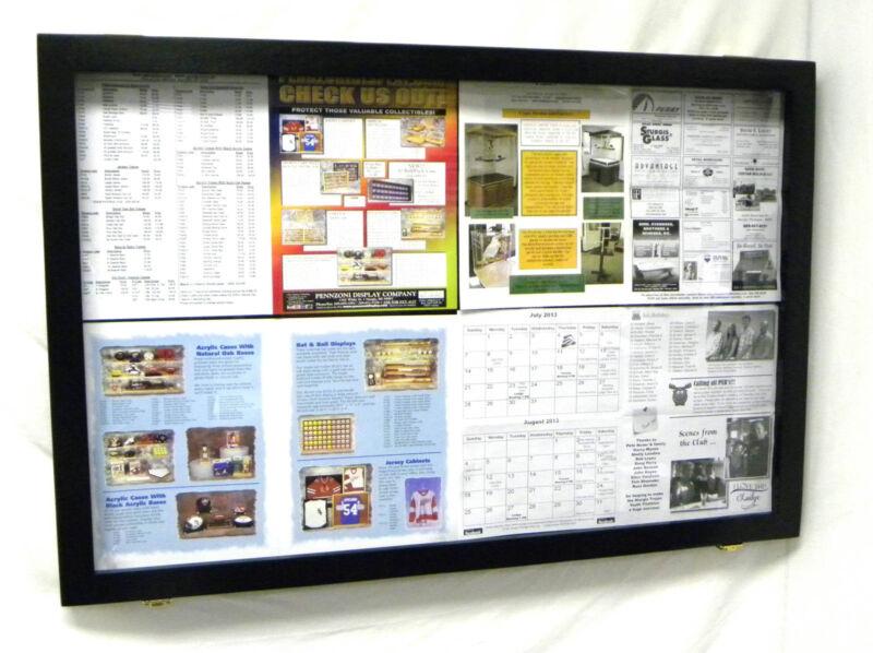 Bulletin Board Wooden with Acrylic hinged Door