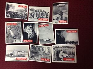 1965 War Bulletin Cards x22 very good condition