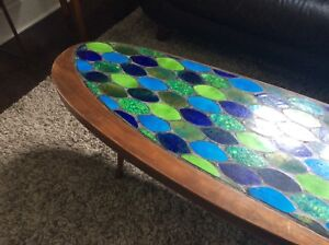 Mid Century Modern Hohenberg Biomorphic Mosaic Coffee Table