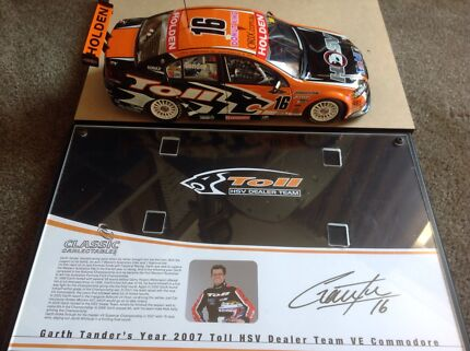 Garth Tander 1/18th Limited Edition Die Cast includes plaque. Hobart CBD Hobart City Preview