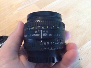 Lentille 50 mm Nikon 1.8 D
