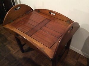 SOLID WOOD MADE IN ENGLAND BUTLERS TABLE