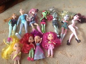 Monster High, Strawberry Shortcake and Elsa and Anna Barbies