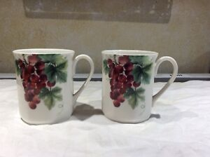 Royal Doulton Vintage Grape Coffee Mugs