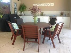 Outdoor Dining Setting Solid Jarrah Timber 7 pce Mount Hawthorn Vincent Area Preview