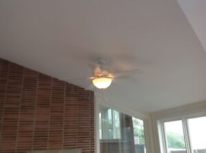 Ceiling fans with lights. 3 for $50.00 each.
