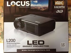 REDUCED Locus L200 LED Smart Projector 4K TV. Christina Lake