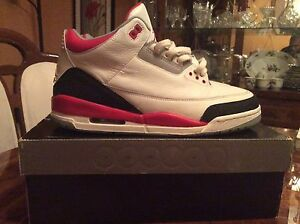Jordan fire red 3 2006 version size 11