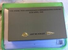 1990 FIVE DOLLAR PROOF SET- *75TH ANZAC ANNIVERSARY* - IN PRESENT Heathmont Maroondah Area Preview