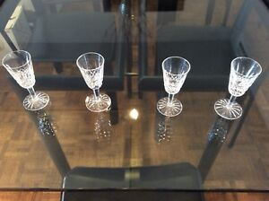 WATERFORD HAND CUT CRYSTAL SHERRY/WINE GLASSES